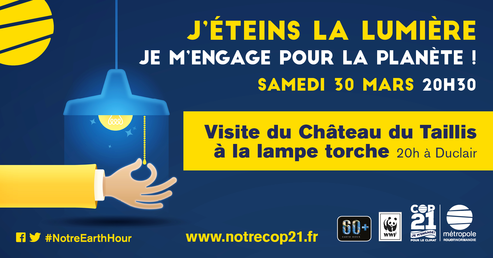 affiche earth hour